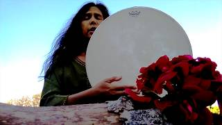 Frame Drum stroke connection to elements: Frame Drum Circle Demo- Element Song  w/ Miranda Rondeau