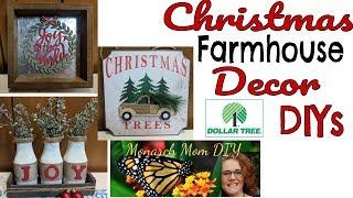 CHRISTMAS FARMHOUSE DOLLAR TREE DECOR DIYS #christmasdecor #dollartreechristmas