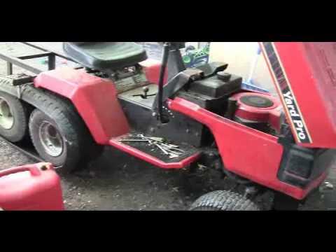 Ride On Mower >> Lawnmower tank tracks test run..avi - YouTube