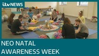 Families enjoy baby yoga classes during Neonatal Awareness Week | ITV News