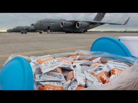 U.S. Airlift of Humanitarian Aid for Venezuela