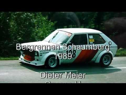 Dieter Meier, Bergrennen Schaumburg, 1989, Audi 50, Gruppe H, 1300 ccm