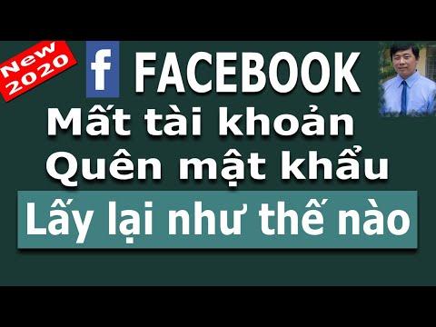 cách lấy lại facebook khi bị hack tài khoản - Cách lấy lại mật khẩu Facebook 2020  Lấy lại tài khoản Facebook