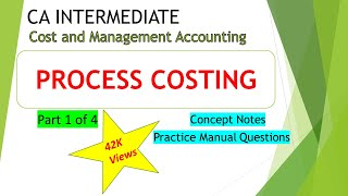 Process Costing (Part 1) | Notes Reading | CA IPCC Process Costing (Cost accounting)