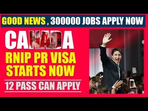 CANADA Starts RNIP PR Visa Program -  For Less Educated People.