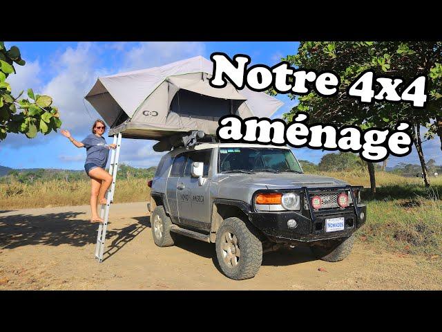 Présentation du TOYOTA FJ CRUISER 4X4 avec tente de toit