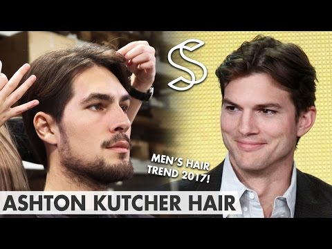 Ashton Kutcher Hairstyle ★ Mens hair fashion 2017 - Middle Parting ★ Two and a Half Men
