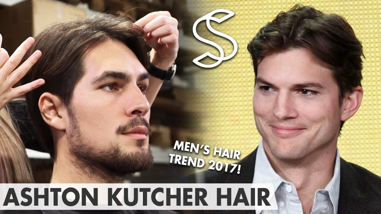ashton kutcher hairstyle - men's hair fashion 2017 - middle parting - two and a half men
