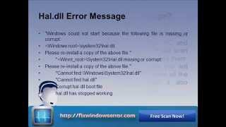 Fix missing or corrupted hal.dll file