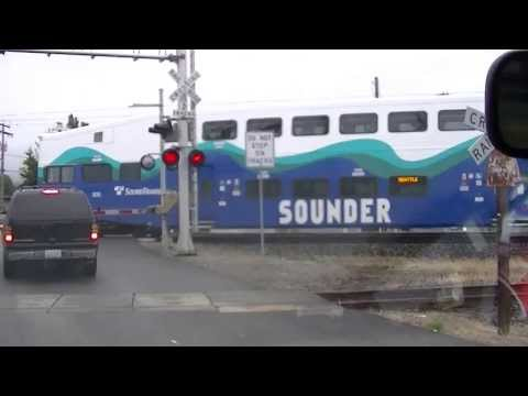 SOUNDER passenger train, in Sumner, Washington