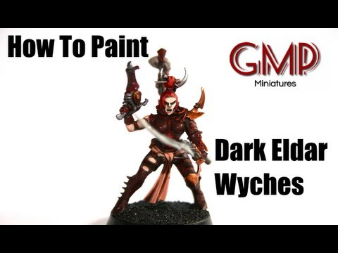 How to paint dark eldar wyches youtube for Paint a dark picture