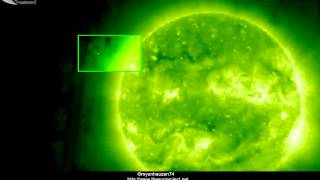 Holograms of a UFOs near the Sun - April 3, 2013
