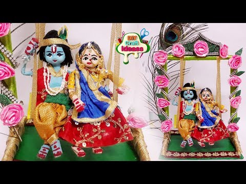 Radha Krishna Making   Newspaper Craft   DIY   Creative Craft   Newspaper Doll    Arush Diy Craft