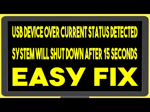 USB Device Over Current Status Detected | System Will Shut Down After 15 Seconds | Troubleshoot Fix