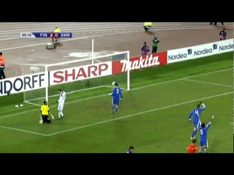 EURO 2012. GROUP E. FINLAND 8-0 SAN MARINO (Highlights)