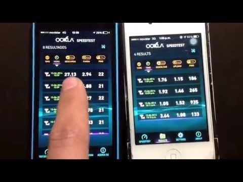 Test de velocidad 4G vs 3G Movistar Santiago Chile