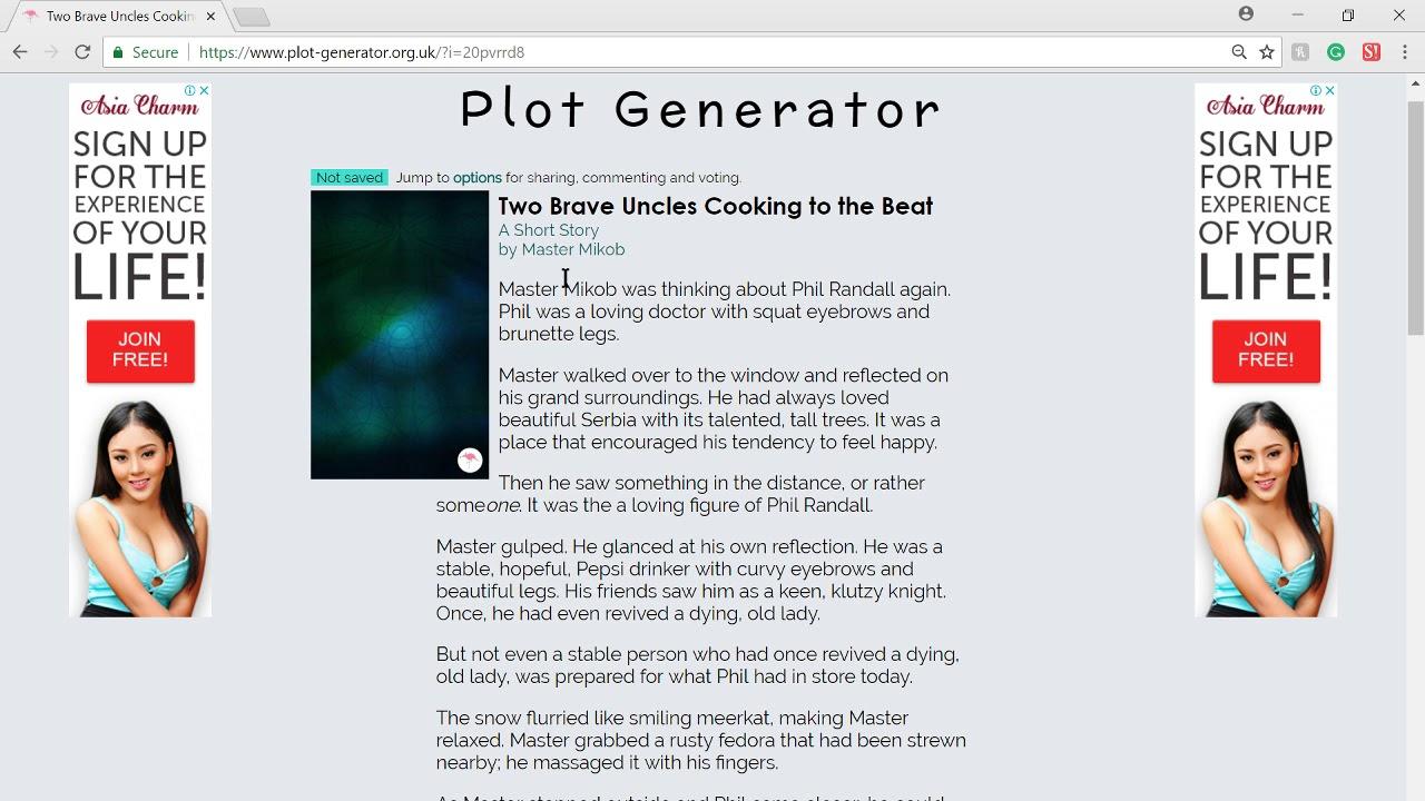 This is such a weird plot generator || Random Websites