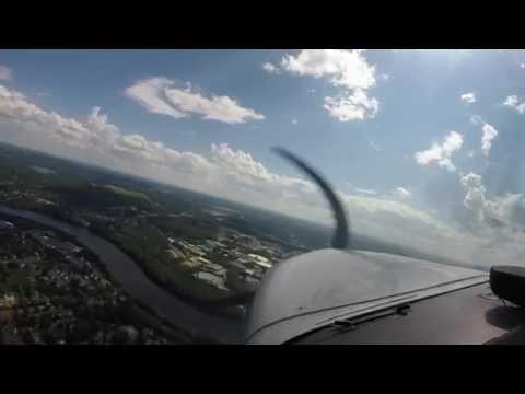 Summertime Flight over Haverhill, Massachusetts.