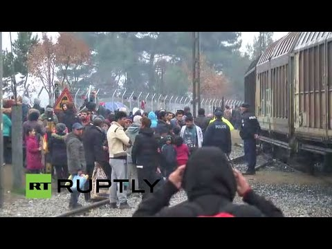 LIVE from Greek-Macedonian border as thousands of refugees remain stranded