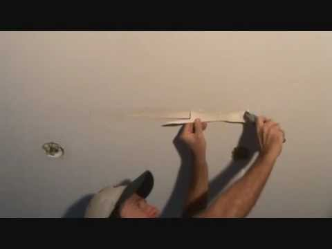 How to remove water damaged drywall tape