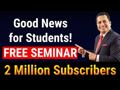 Free Seminar For Students | 2 Million Subscribers | Dr. Vivek Bindra