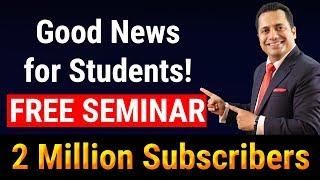 Free Seminar For Students | 2 Million Subscribers | Dr. Vivek Bindra