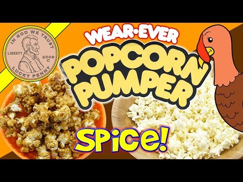 Thanksgiving Day Pumpkin Spice Popcorn! Testing A Vintage Wear Ever Popcorn Pumper Air Popper Review
