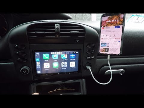 Alpine double din stereo installation in Porsche 911 996 with Bose