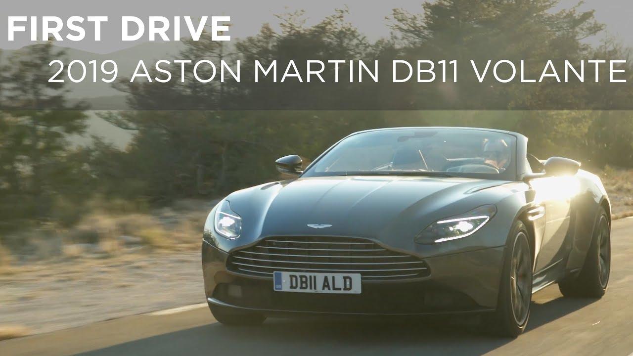 First Drive 2019 Aston Martin Db11 Volante Driving Ca Youtube