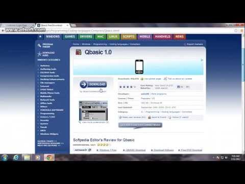 How to download Qbasic in Windows 7 32 bit