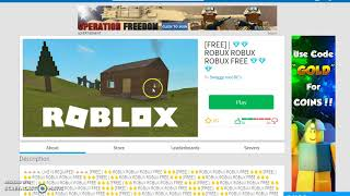 NEVER PUT YOUR USERNAME OR PASSWORD ON ROBLOX (SCAM) FREE ROBUX