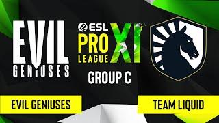 CS:GO - Evil Geniuses vs. Team Liquid [Inferno] Map 3 - ESL Pro League Season 11 - Group C