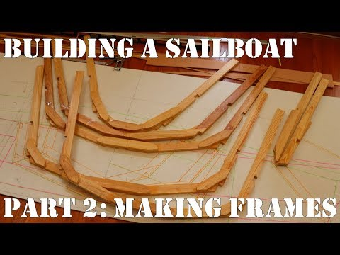 Building a Snipe Class Sailboat. Part 2: Building the Frames