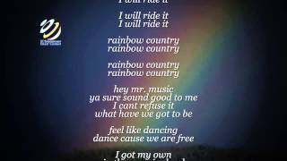 "Bob Marley ""Rainbow Country"" (Lyrics-Letras)  ボブ·マーリー"