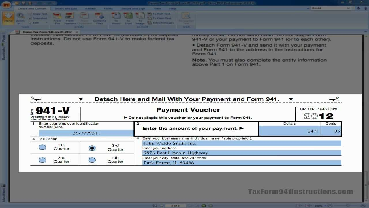 Tax form 941 v payment voucher video youtube tax form 941 v payment voucher video falaconquin
