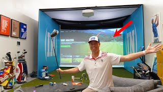 Golf Simulator in our New Home!