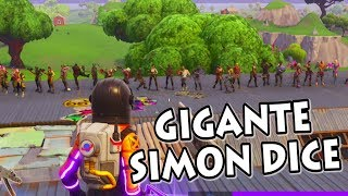 SIMON DICE GIGANTE! *INCREÍBLE FINAL* FORTNITE PERSONALIZADAS