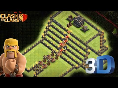 Clash Of Clans | TH9 Troll Game Base |