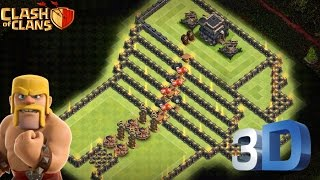 "Clash Of Clans | TH9 Troll Game Base | ""STAIRCASE OF HEAVEN"" 