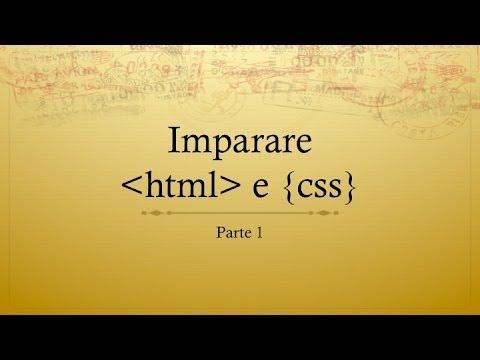 Come Creare Un Sito Web In HTML Part1