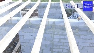 видео Укладка деревянных балок перекрытия