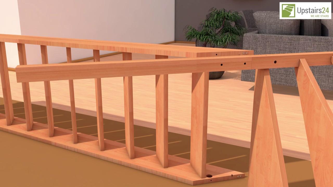 escalier en bois massif en kit savoy 1 4 tournant rampe upstairs24 youtube. Black Bedroom Furniture Sets. Home Design Ideas