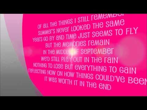 September (by Daughtry - Lyrics on Screen)