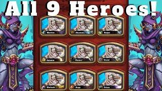 Highkeeper Ra with ALL 9 Heroes! Mogu Cultist OTK Combo Bonanza! [Hearthstone Compilation]