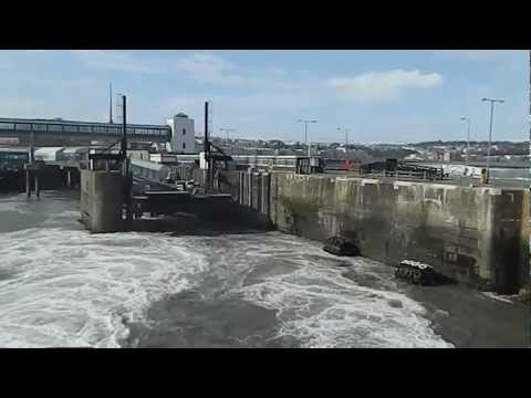 Isle of Man Steam Packet Catamaran Manannan leaving Douglas 24th March 2013