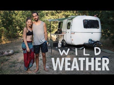 challenging-heat-&-rain-in-washington-//-13ft-scamp-trailer