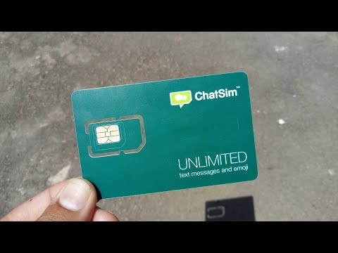 How To Activate Chatsim ChatSim 2 Unlimited Review Global SIM Card Use 4G Internet Messaging