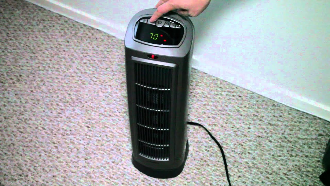 Lasko Ceramic Tower Space Heater With Remote Youtube