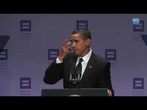 President Obama Speaks for Gay Civil Rights