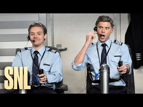 Adam Rivers - Harry Styles as an airplane pilot on SNL = hilarious